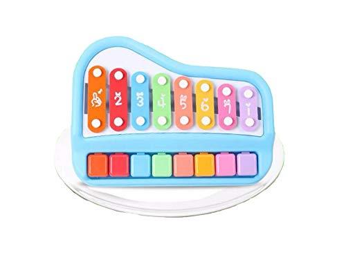 BRZM Giocattoli per Neonati e Bambini Xilofono di plastica Blu per Bambini Giocattolo Strumento Musicale Otto-Tono Mano Knock Piano
