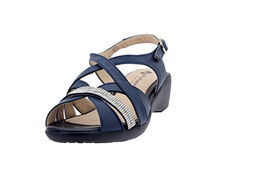Chaussure femme confort en cuir Piesanto 6558 sandale casual chaussure confortables amples Marino