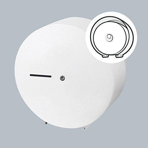 Toilettenpapierspender Metall weiß - Toilettenpapierhalter Großrolle
