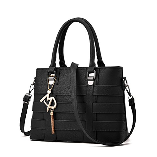 Honeymall borse tote donna in Pu Pelle Tessere Vino Nero