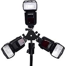 Neewer - 3 Modo Soporte de Flash Giratorio de Montaje de Zapata Flash con Soporte de Paraguas para Nikon Canon Pentax Sigma, Negro