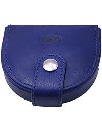 BRANCO Unisex Schüttelbörse Börse Portemonnaie Echt Leder blau