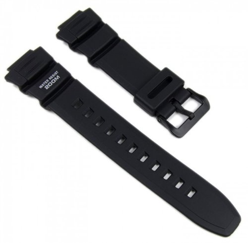 Casio Correa de Reloj Resin Band negro AE-2000W WV-200