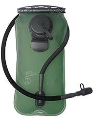 Poche à eau 3litre, réservoir d'eau Lot Sac à dos Système d'eau Sac pour l'extérieur de cyclisme escalade randonnée Course (sans BPA Approuvé par la FDA), non toxique, tuyau flexible isotherme, pas de fuite