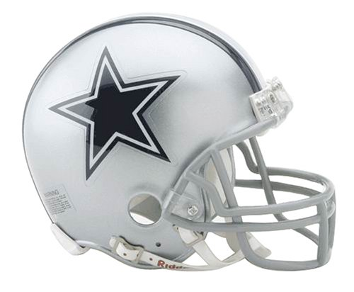 Dallas Cowboys Miniature Replica NFL Helmet w/Z2B Mask