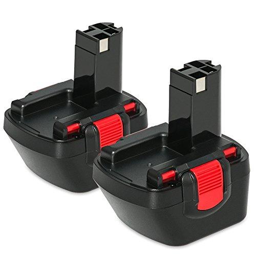 NeBatte 2x BAT043 12V 3.0Ah Ni-MH Ersatzakkus 2 Stück für werkzeug akku Bosch BAT043 BAT045 BAT046 BAT049 BAT120 BAT139
