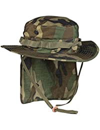 916c677057f70 British Army Style Coyote Jungle Boonie Bucket Hat With Neck Flap