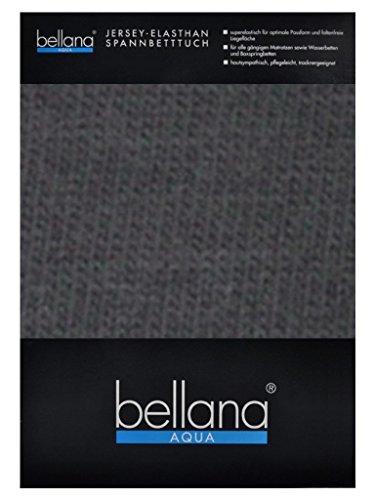bellana® AQUA Jersey Multifunktions-Spannbettlaken für Wasserbetten in Normal- und Übergrößen, 140-160x200-220 cm in anthrazit (Wasserbett Spannbettlaken Queen)