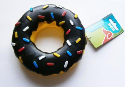 HUNDE-SPIELZEUG-DONUT Geräusch SCHWARZ Ø 15cm Hundespielzeug Hund Quitsch Dog (Donut Spielzeug Für Hunde)