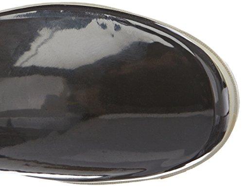Playshoes Wellies Short Ankle Wellington Boots, Bottes de Neige femme Noir - Black - Schwarz (schwarz/grau 796)