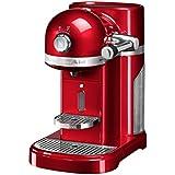 KitchenAid Artisan Nespresso Independiente Semi-automática Máquina espresso 1.4L Rojo - Cafetera (Independiente, Máquina espresso, Rojo, Taza, Metal, Botones, palanca, Giratorio)
