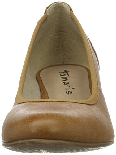 Tamaris 22304, Scarpe con Tacco Donna Marrone (NUT 440)