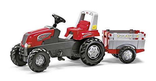 *Rolly Toys 5800261 – Schneider junior Trettraktor mit Farmtrailer, 162 cm*