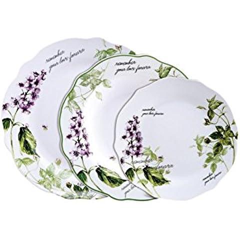Brunchfield Remember - Vajilla de 18 piezas en porcelana
