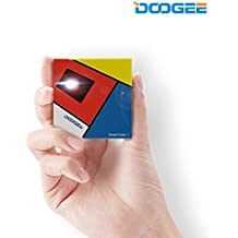 DOOGEE P1 Proiettore, Wireless Projector Display Cube 120 Pollici per Smartphone, Tablet, PC (Iphone, Ipad, Mac, Windows, Android), Portatile e Ricaricabile con un Treppiede