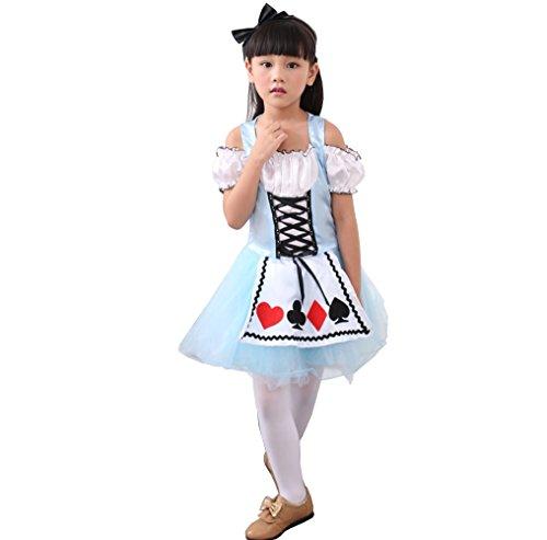 D'amelie Prinzessin Kostüm Kinder Glanz Kleid Mädchen Weihnachten Verkleidung Karneval Rollenspiele Party Halloween - Mania-kostüm Party D'halloween