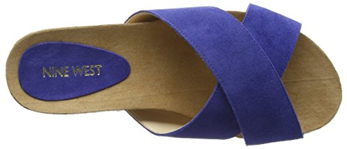 Nine West Damen Amyas Sandalen Blau - Bleu (Blue Jeans)