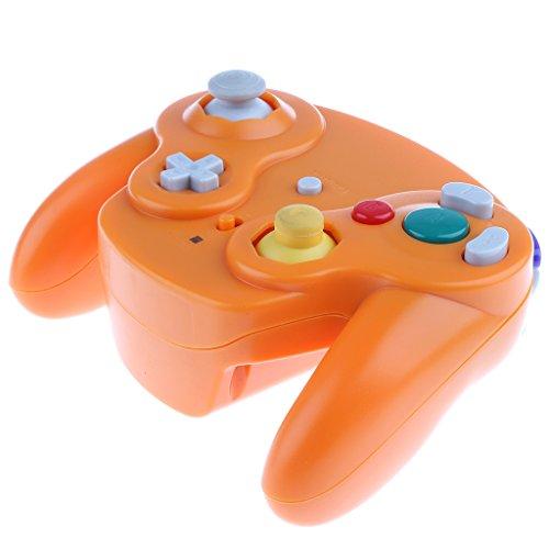 Baoblaze Contrôleur Sans Fil de jeu Vidèo Accessoire jeu Vidèo Pour Nintendo Gamecube Wii Pièce Remplacement - Orange