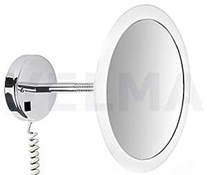 velma satin led100 5x exklusiver hochwertiger beleuchteter led kosmetikspiegel 5 fach. Black Bedroom Furniture Sets. Home Design Ideas
