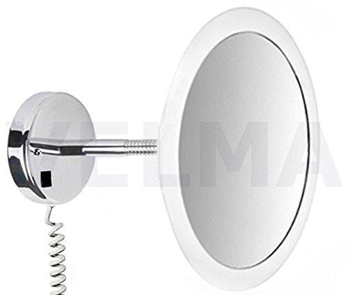 VELMA - SATIN - LED100 5x - Exklusiver hochwertiger beleuchteter LED Kosmetikspiegel - 5-Fach...