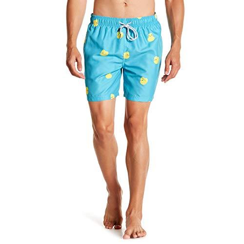 Visive Swimming Boardshort 16 inch Swimwear Chubbies Short Rubber Duck Medium (Button-up-hawaiian-t-shirt)