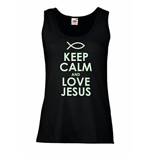 Femme Débardeur Sans manche Christian t-shirts cadeau chrétien articles religieux Noir Fluorescent
