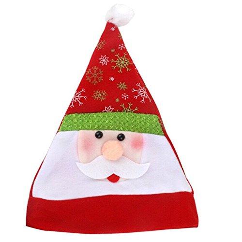 De Noel Pere Kostüm (Hüte von Weihnachten, zm-bellevie Weihnachtsmütze Weich Christmas Hut mit Pompon für Erwachsene/Kinder Unisex Dekoration Weihnachten Kostüm, Père Noël, Père)
