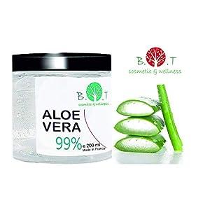 Gel Puro de Aloe Vera de Canarias 200 ml Regenerador 100% natural Hidratante Todo tipo de piel, Cara Cuerpo, Cabello…