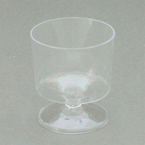 Klar Kunststoff Ergab Wein/Shot/Dessert schnuppern Gläser–360Stück (Schnapsglas Desserts)