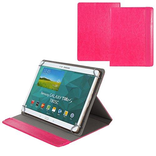 BRALEXX Universal 10 Zoll Tablet Tasche passend für Kiano Tablet Slimtab 10.1 3G R Quad, Pink