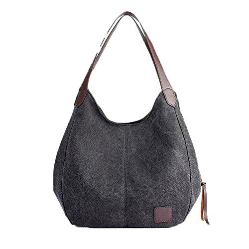 Owarder Hobo Handtasche beiläufige Segeltuchtasche Damen Umhängetasche Bowlingtaschen Einkaufstasche Schulranzen