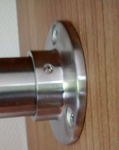 110 cm Premium Edelstahl Kleiderstange – Edelstahl V2A D 33,7 mm – hochwertige Oberfläche – Set für Garderobe Kleiderschrank oder Nische LIVINDO - 4