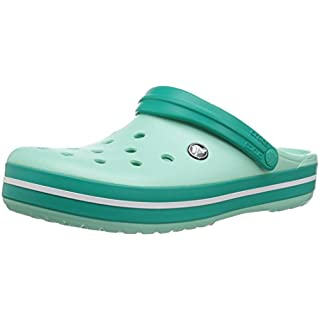 crocs unisex-adult Crocband Clog, Turquoise (new mint/tropical teal), 11 US Men / 13 US Women