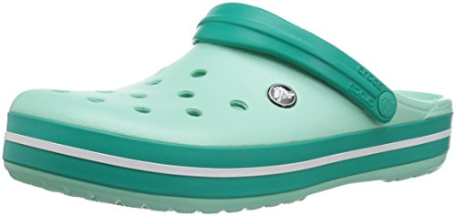 crocs Unisex-Erwachsene Crocband U\' Clogs, Grün(New Mint/tropical Teal), 41/42 EU