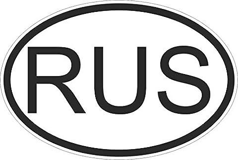 Autocollant sticker drapeau oval code pays voiture moto russie russe rus