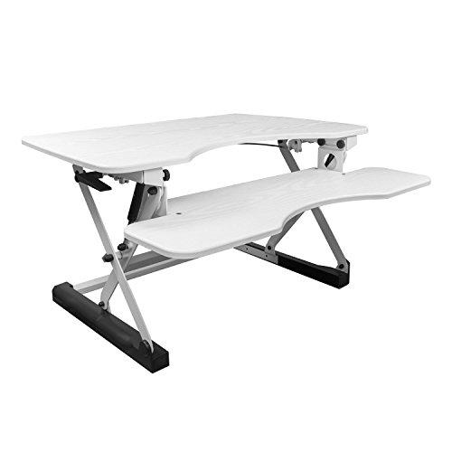 NEG Computertisch ExtenDesk 100W (91,5cm breit) Sitz-/Steh-Arbeitsplatz weiß