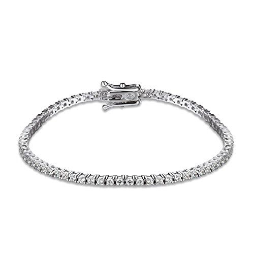 925 linea d'argento intarsio Bracciale in platino placcatura/ Giappone-Corea Bracciale in argento/Regali di compleanno