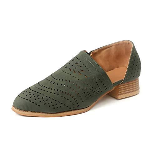 Botines Mujer Tacon Medio Mocasines Mujer Ante Casual Loafers Primavera Verano Botas de Tobillo Zapatos...