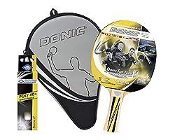 Donic-Schildkröt Tischtennis-Geschenkset Top Team 500, 1 Schläger, 3 Bälle inkl. Schlägerhülle, im Blister, tolles Komplettset für den Start, als Geschenk, 788480