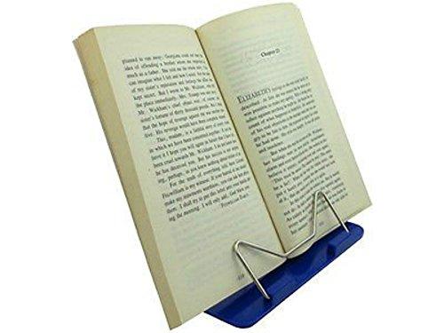 wuzmei ángulo ajustable soporte de escritorio libro Stands portátil soporte de lectura libro documento Holder Azul