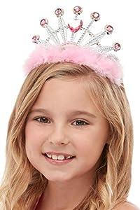 Smiffys 52128 - Tiara para niña (talla única), color rosa
