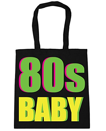 80s Baby Neon Letters Tote Bag in Many Colours