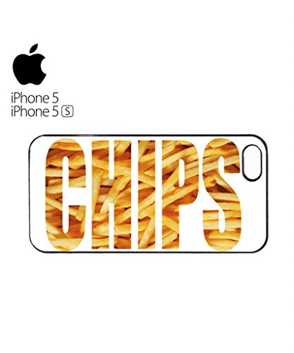 Chips Fries Fast Food Happiness Mobile Cell Phone Case Cover iPhone 5c Black Weiß