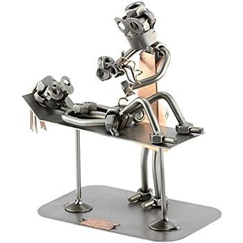 Steelman24 I Nuts and bolts sculpture Poor Fisherman I Handmade ornaments I Made in Germany I I Metal figurine