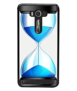PrintVisa Designer Back Case Cover for Asus Zenfone 2 Laser ZE500KL (5 Inches) (Sand Watch In Cool Blue Design)