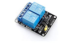 SunFounder 2 Channel DC 5V Relay Module Modulo Relè with Optocoupler Low Level Trigger Expansion Board for Arduino UNO R3 MEGA 2560 1280 DSP ARM PIC AVR STM32 Raspberry Pi