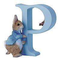 Beatrix Potter Alphabet Letter P Running Peter Rabbit Figurine