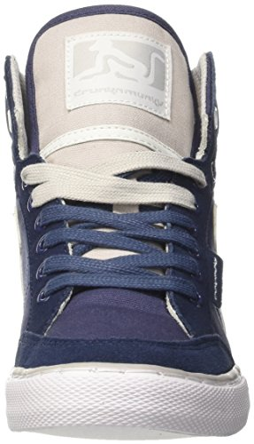 DrunknMunky Boston Classic, Chaussures de Tennis homme Blu (Navy/Grey)
