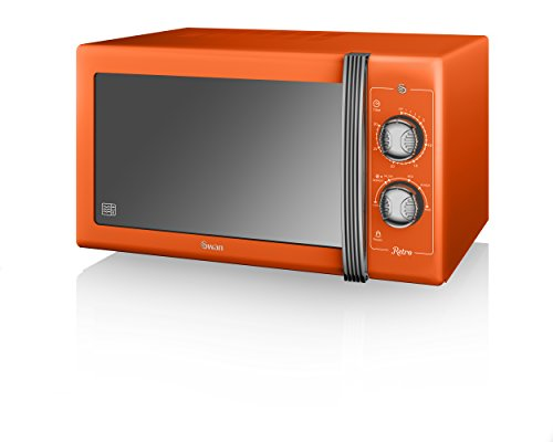 Swan Products SM22070ON Retro Manual Microwave, Orange