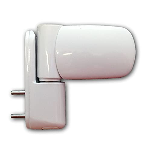 UPVC Double Glazing Door Flag Hinge Adjustable Avocet MT3D (White)